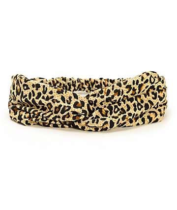 Trillium Leopard Twist Headband