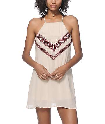 Trillium Phoebe Tribal Embroidered Dress
