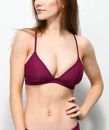 Trillium South Beach Burgundy Triangle Bikini Top
