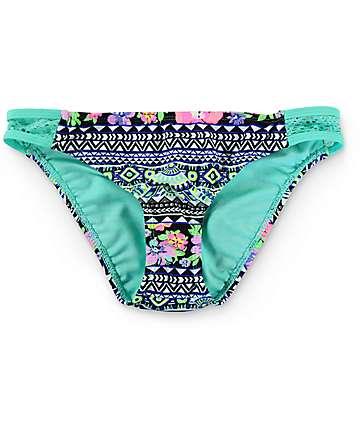Trillium Tahitian Gardens Crochet Hipster Bikini Bottom