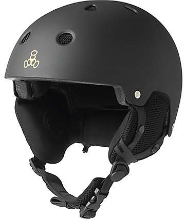Triple Eight Brainsaver Audio casco de snowboard en negro