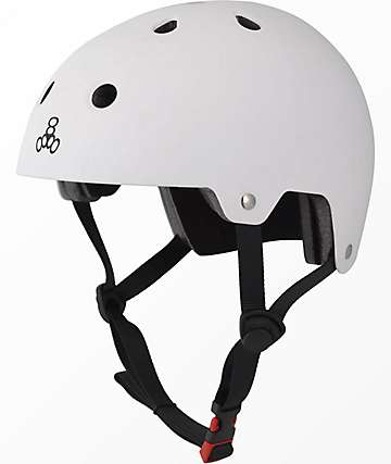 Triple Eight Brainsaver casco de skate de goma blanca