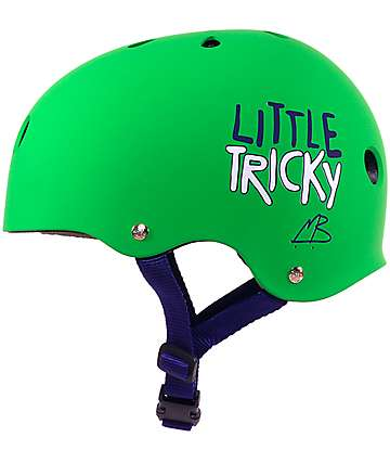 Triple Eight Lil Tricky casco de skate en verde para niños