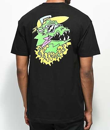 Trippy Burger Dragon camiseta negra