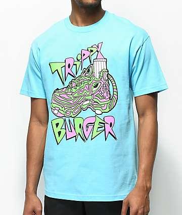 Trippy Burger Jelly Shoe camiseta en azul claro