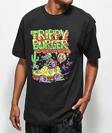 Trippy Burger Loathing camiseta negra