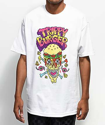 Trippy Burger Pirate Burger White T-Shirt
