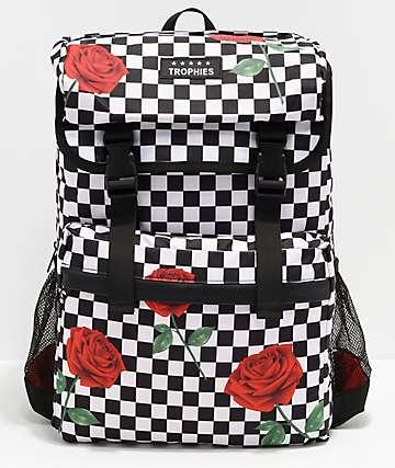 Trophies Roses mochila de cuadros