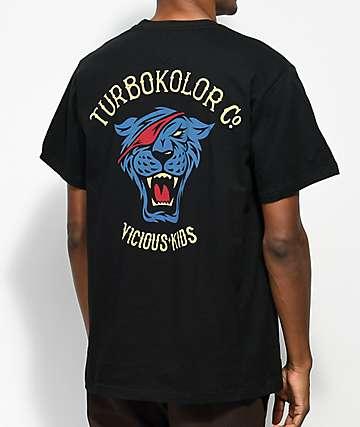 Turbokolor Co. OG Tiger  camiseta negra y multi color