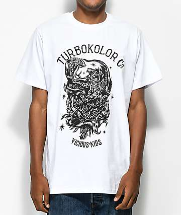 Turbokolor Co. Predators camiseta blanca