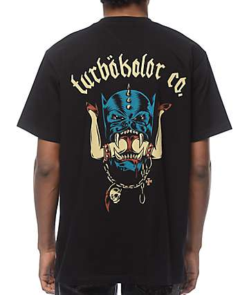 Turbokolor Head Black T-Shirt