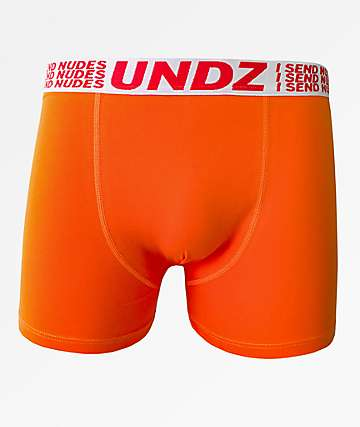 UNDZ I Send Nudes Orange Boxer Briefs