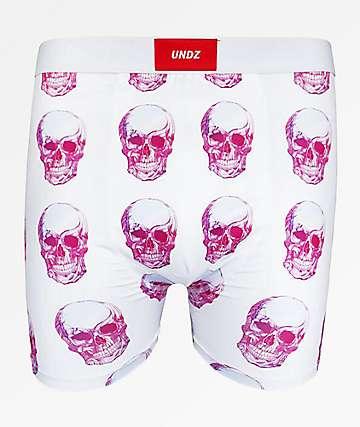 UNDZ Skulls White Boxer Briefs