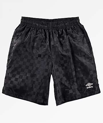 Umbro Checkerboard Black Shorts