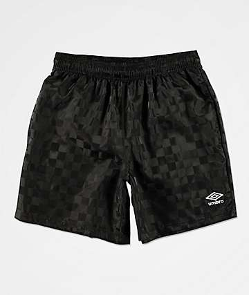 Umbro Checkered Black Shorts