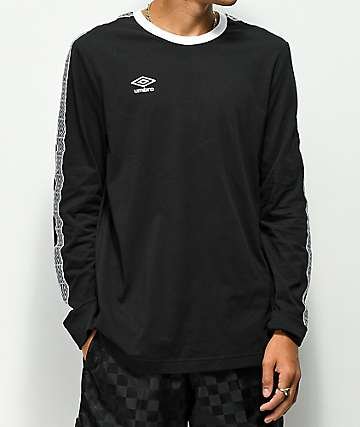 Umbro Diamond Black Long Sleeve T-Shirt