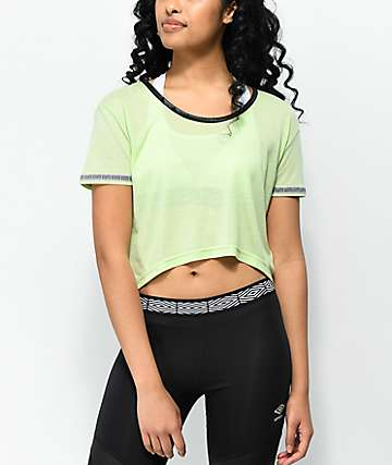 Umbro Diamond Mint Crop T-Shirt