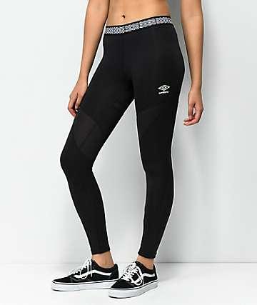 Umbro Diamond leggings negros para correr