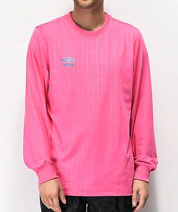 Umbro Pink Long Sleeve Jersey