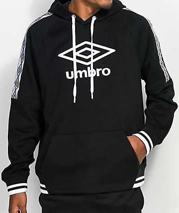 Umbro Sueded Fleece Black Hoodie