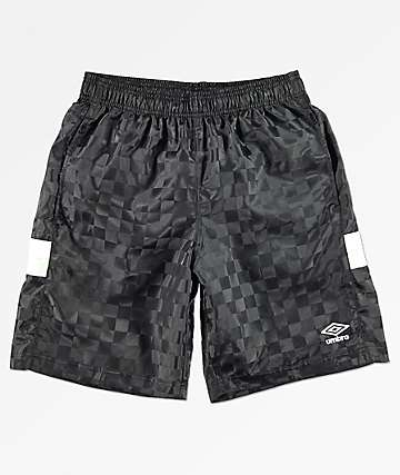 Umbro Tri-Checkered Black Shorts