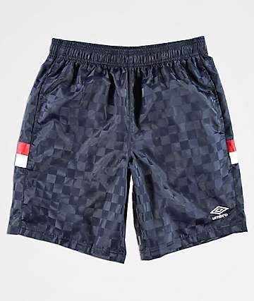 Umbro Tri-Checkered shorts azul marino