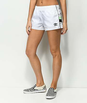 Umbro White Checker Track Shorts
