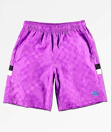 Umbro shorts morados de cuadros