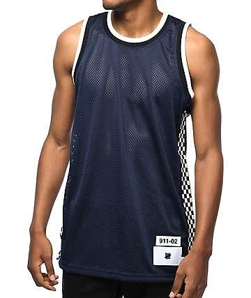 Undefeated Finish Line jersey de baloncesto en azul marino