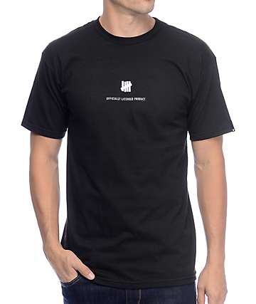 Undefeated Officially Licensed camiseta negra