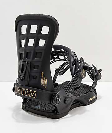 Union Atlas Black Snowboard Bindings 2019
