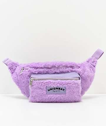 Union Bay Lavender Fur Fanny Pack