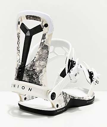Union Falcor White Snowboard Bindings 2020
