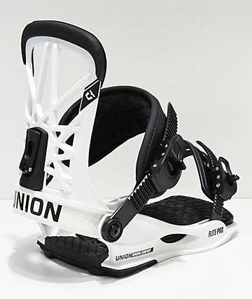 Union Flight Pro 2019 fijaciones de snowboard en blanco
