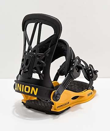 Union Flight Pro 2019 fijaciones de snowboard en negro y amarillo