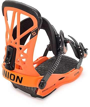Union Flight Pro fijaciones de snowboard naranjas