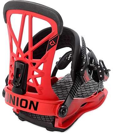 Union Flite Pro fijaciones de snowboard en rojo
