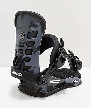 Union STR Black Camo Snowboard Bindings 2019