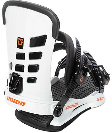 Union STR White Snowboard Bindings