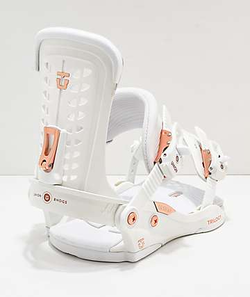 Union White Women's Trilogy Snowboard Bindings 2019