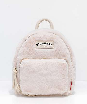 Unionbay Bone Fur Mini Backpack