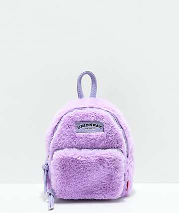 Unionbay Fuzzy Lavender Mini Backpack