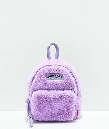Unionbay Fuzzy Lavender Mini Backpack