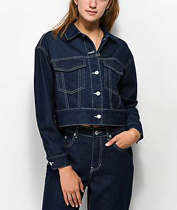 Unionbay Harrison Blue Rinse Crop Denim Jacket