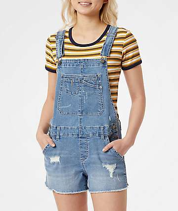 Unionbay Jenny Destructed Denim Overall Shots