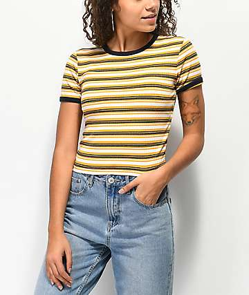 Unionbay Jones Yellow Striped T-Shirt