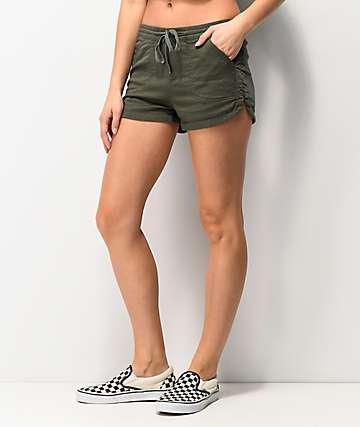Unionbay Maribeth Olive Shorts