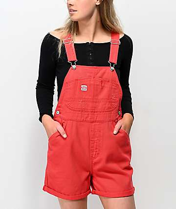 Unionbay Mario Red Overall Shorts