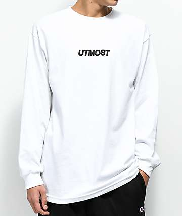 Utmost Co. Logo White Long Sleeve T-Shirt