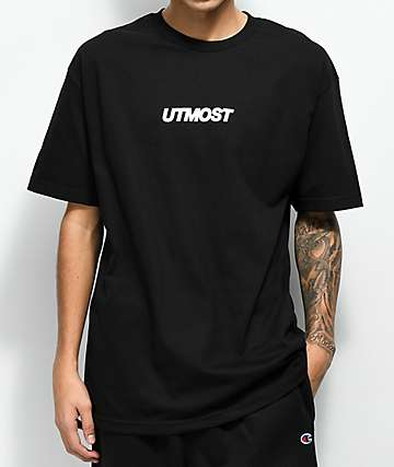 Utmost Co. Solid Logo Black T-Shirt